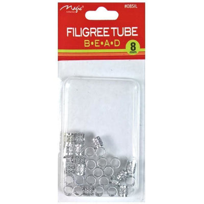 Magic Collection 8MM Silver Filigree Tube #08SIL