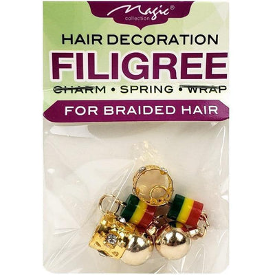 Magic Collection Filigree Tube With Charm, Assorted #FILICHA09