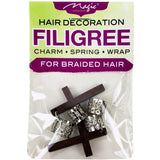 Magic Collection Filigree Tube With Cross, Silver #FILICHA14