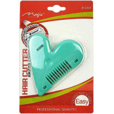 Magic Collection Hair Cutter Heart Razor Comb #12323