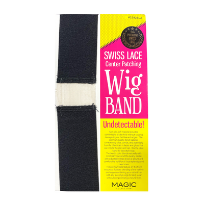 Magic Collection Swiss Lace Center Patching Wig Band #2292BLA
