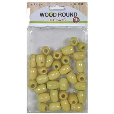 Magic Collection Wood Round Beads #12815NAT