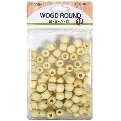 Magic Collection Wood Round Beads #12816NAT