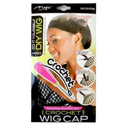 Magic Diamond Shaped Net Crochet Wig Cap #DIY008