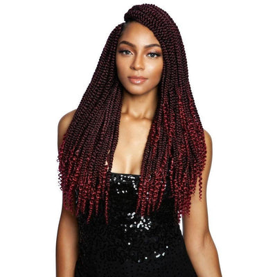 Mane Concept Synthetic Afri-Naptural Braids – 3X Coily Ends Box Braid 18""