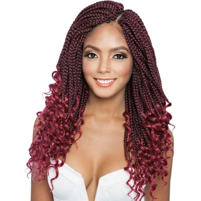 Mane Concept Synthetic Afri-Naptural Braids – 3X Curly Ends Box Braid 14""