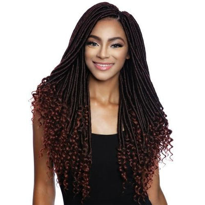 Mane Concept Synthetic Afri-Naptural Braids – 3X Pre-Stretched Bonet Goddess Locs 18""