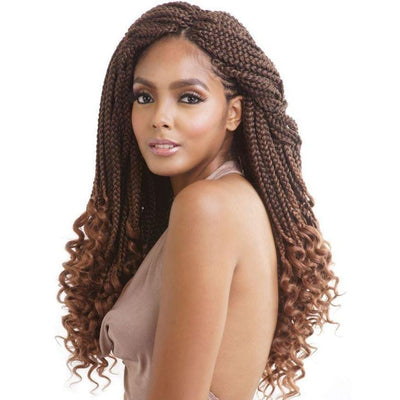 Mane Concept Synthetic Afri-Naptural Braids – 3X Curly Ends Box Braid 18""