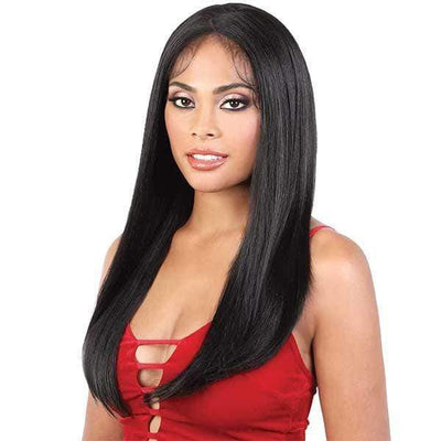 Motown Tress Synthetic Zig Zag Part Lace Front Wig - LZX.Megan