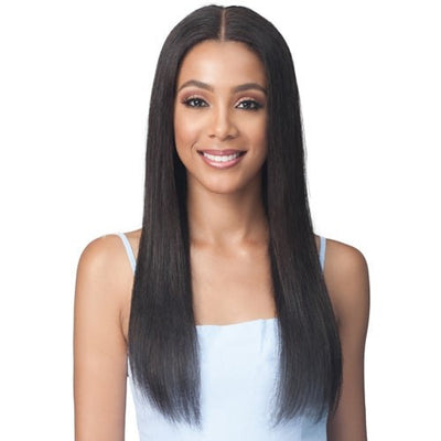 Bobbi Boss 100% Unprocessed Virgin Remy Human Hair Bundle Lace Frontal Wig - MHLF508 - Natural Straight 24""