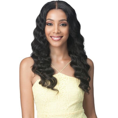 Bobbi Boss 100% Unprocessed Virgin Remy Human Hair Bundle Lace Frontal Wig - MHLF509 Ocean Wave 24""