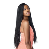 Sensationnel Cloud 9 Hand-Braided Synthetic Swiss Lace Wig - Micro Box Braid 28""