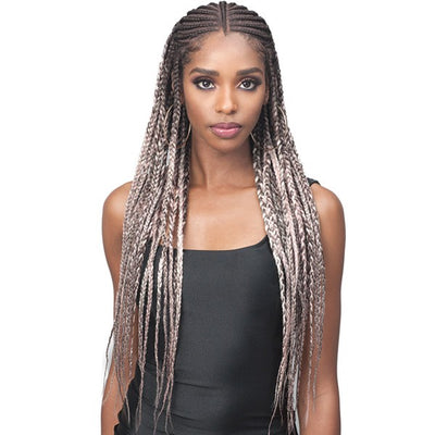 "Bobbi Boss Synthetic Instant Braid 13"" x 7"" Lace Front Wig - MLF-515 Ida"