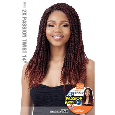 Model Model Glance Braids – 2x Passion Twist 14""