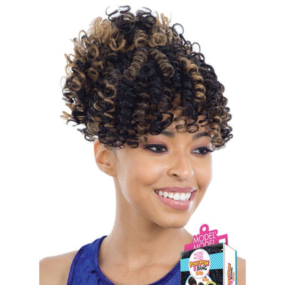 Model Model Synthetic Bang & Pony Pom Ponytail – Flexi