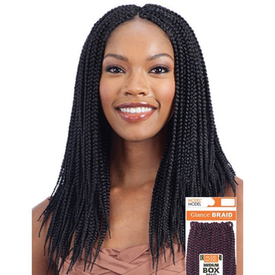 Model Model Synthetic Glance Braids – Medium Box Braid 14""