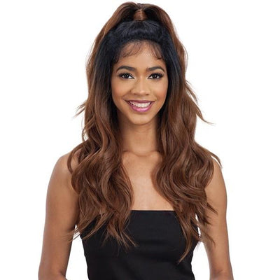 Model Model Synthetic Half-Up Lace Front Wig – Bliss