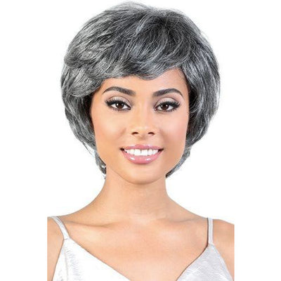 Motown Tress Human Hair Silver Gray Hair Collection Wig – SH.Rita