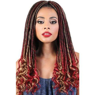 Motown Tress Synthetic Braids –  3X Straight Goddess Locs 20""