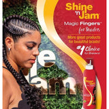 Ampro Shine n' Jam Magic Fingers Setting Mousse For Braiders 12 OZ