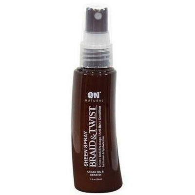Next Image ON Natural Braid & Twist Sheen Spray Argan Oil & Keratin 2 OZ