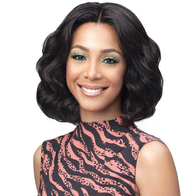 Bobbi Boss Unprocessed Bundle Hair Full Lace Wig - Ocean Wave 12""