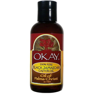 OKAY 100% Pure Black Jamaican Castor Oil 2 oz