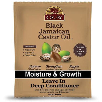 OKAY Black Jamaican Castor Oil Leave In Deep Conditioner 1.5 OZ