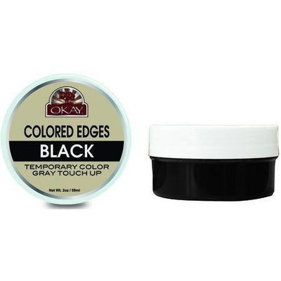 OKAY Colored Edges Temporary Color Gray Touch Up 2 oz Black