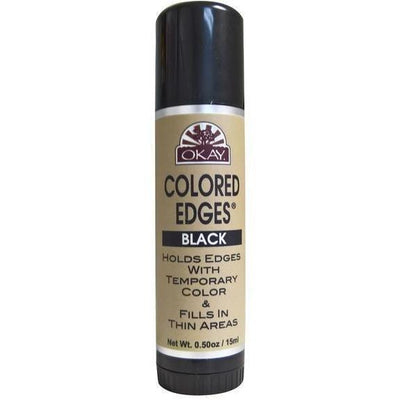 OKAY Colored Edges Temporary Color Stick 0.5 OZ, Black