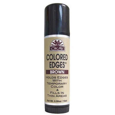 OKAY Colored Edges Temporary Color Stick 0.5 OZ, Brown