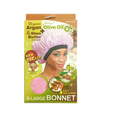 M&M Headgear Qfitt X-Large Bonnet w/ Argan, Olive Oil & Shea Butter, Assort #828