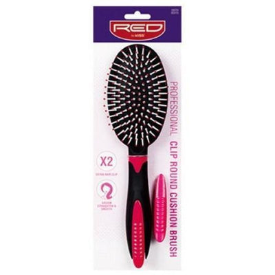Red by Kiss Professional Clip Round Cushion Brush #BSH15