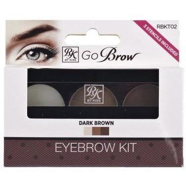 Ruby Kisses Go Brow Eyebrow Kit RBKT02 Dark Brown