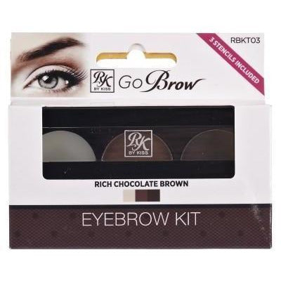 Ruby Kisses Go Brow Eyebrow Kit RBKT03 Rich Chocolate Brown
