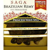 Saga Brazilian Remy 100% Human Hair Weave – Princess Wave 5 PCS