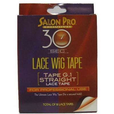 Salon Pro 30 Sec Lace Wig Tape G.1 Straight 12pc
