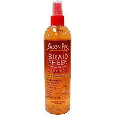 Salon Pro Braid Sheen Argan Oil Spray 12 OZ