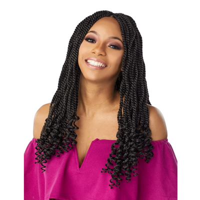 Sensationnel Lulutress Synthetic Crochet Braids – 3X Kinky Twist 18""