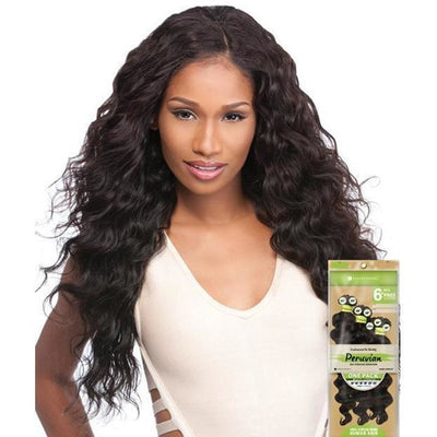 Sensationnel Bare & Natural Peruvian Virgin Remi Weave – Loose Deep 6 PCS