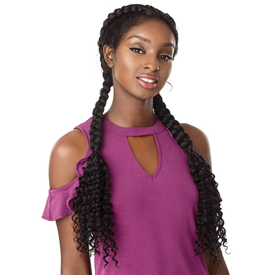 Sensationnel Synthetic Cloud 9 Hand-Braided Swiss Lace Wig – Bohemian Dutch Braid