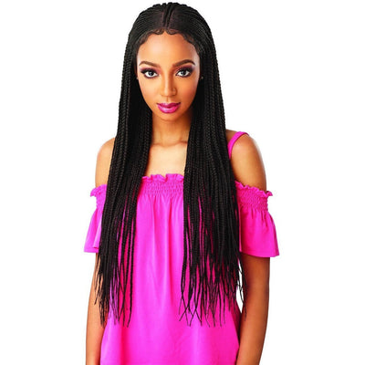 Sensationnel Cloud 9 Hand-Braided Synthetic Swiss Lace Wig – Fulani Cornrow