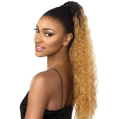 Sensationnel Synthetic Instant Pony Drawstring Ponytail – French Wave 24""