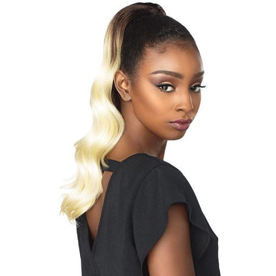 Sensationnel Synthetic Instant Pony Drawstring Ponytail – Ocean Wave 18""