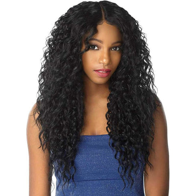 Sensationnel Shear Muse One Pack Solution Synthetic Weave – 3-Way Moon Part Curly 4PCS