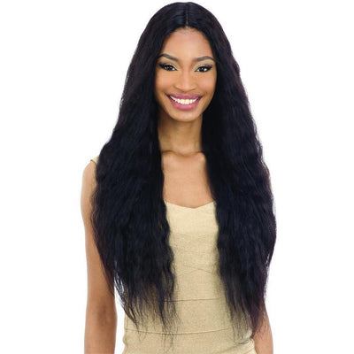 Shake-N-Go 100% Human Hair Naked Nature Wet & Wavy Lace Deep Part Wig – Deep Wave 30""