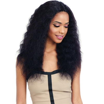 Shake-N-Go 100% Human Hair Naked Nature Wet & Wavy Lace Deep Part Wig – Deep Wave