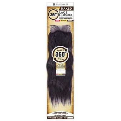 Shake-N-Go Naked Brazilian Virgin Remy 360° Circular Lace Closure – Straight 16""