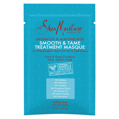 SheaMoisture Argan Oil & Almond Milk Smooth & Tame Treatment Masque 2 OZ