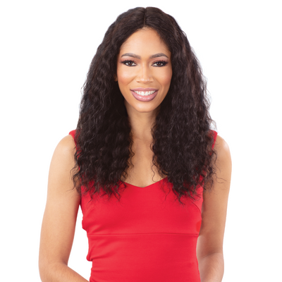 Shake-N-Go Girlfriend 100% Virgin Human Hair Wet & Wavy Lace Front Wig - WW-D20